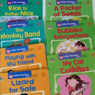 VALUE BUY!! 7 Books from Little Readers Series 1. The Monkey Band Level 1 2. Rice Is Rather Nice Level 1 3. Lizard For Sale Level 2 4. Playing With My Friend Level 2 5. My Cat Cuddles Level 3 6. Bubbles Everywhere Level 3 7. A Packet Of Seeds Level 3