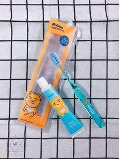 韓國正品 Kakao Friends 人氣角色  牙刷牙膏旅行套裝