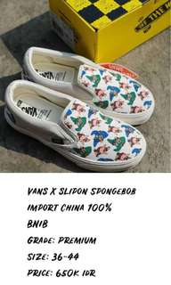 Vans x slip on spongebob