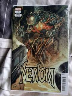 Marvel comics venom 1 2nd print variant