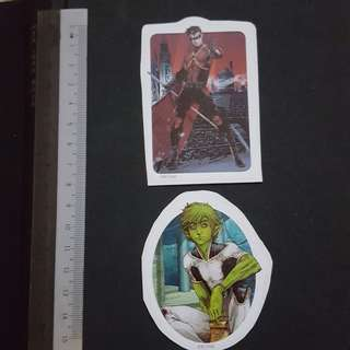 C5B DC Comics Beast Boy & Red Robin Sticker Stickers