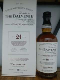 The Balvenie 21y port wood whisky 威士忌 700ml 43%