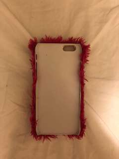 Pink fluffy iPhone cover 6&6s