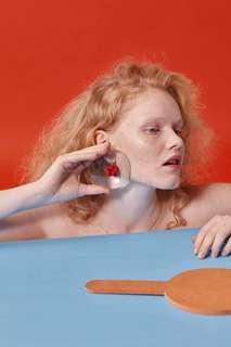 [Designer Handmade]Red Earring