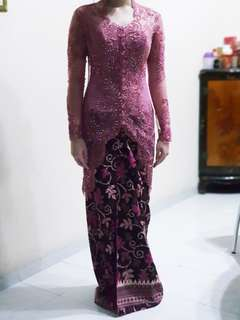 Kebaya Dusty Pink 1 Set