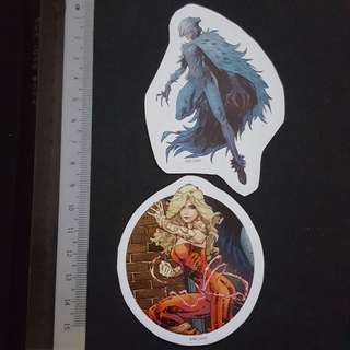 C5B DC Comics Wonder Girl & Raven Sticker Stickers