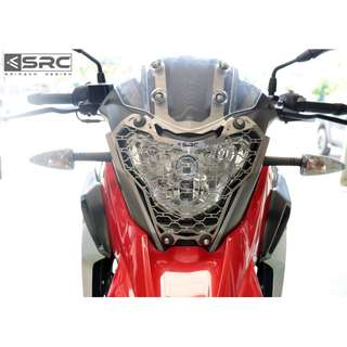 SRC BMW G310 GS Headlight Grill (Available in Black or Silver)