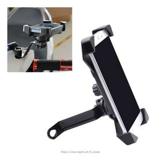Motorcycle Mobile Phone Holder With USB Charger