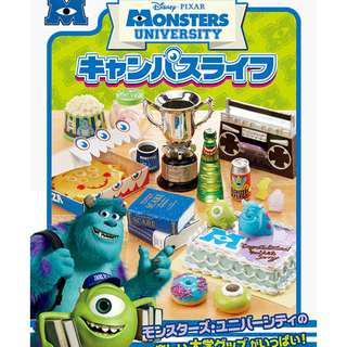 RE-MENT DISNEY PIXAR MONSTERS UNIVERSITY FULL SET OF 8