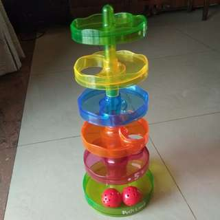 Tower ball (sliding ball, stacking tower)