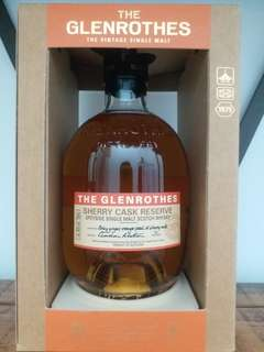 Glenrothes  Sherry cask reserve whisky 威士忌 700ml 4O%