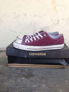 Converse ct pro low red sangria X pani paul