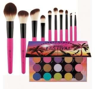BH cosmetics Weekend Festival 10-pc brush set
