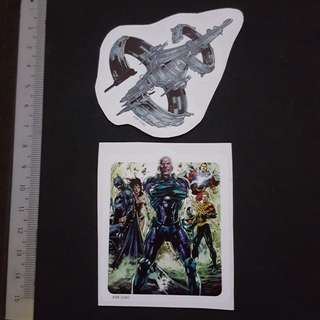 C5B DC Comics Lex Luthor & The Watchtower Sticker Stickers