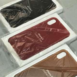 **Apple 蘋果原廠iPhone 系列皮製手機殼**