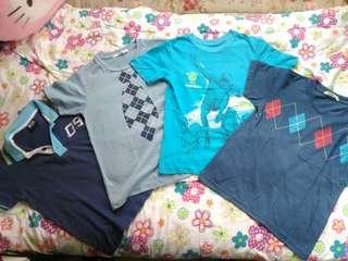 Take all blue shirts (4-5yo)