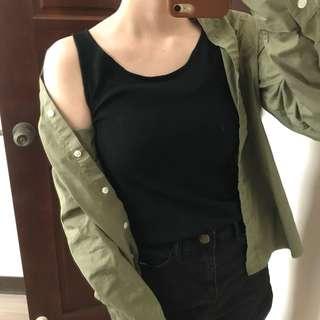黑 無袖上衣