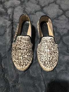 Zara espadrilles calf hair shoes