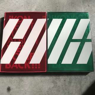 iKON [WELCOME BACK] DEBUT FULL ALBUM GREEN AND RED VERSION