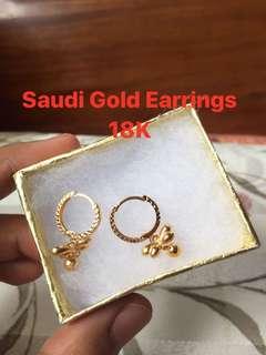 Saudi Gold Earrings