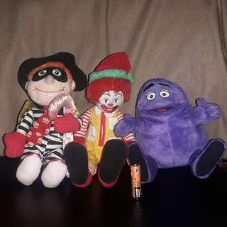 1999 Mcdonalds Stuffed Toys Set