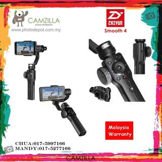 ZHIYUN SMOOTH 4 3-Axis Handheld Smartphone Gimbal Stabilizer and MALAYSIA WARRANTY.