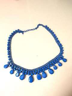 Bershka kalung fashion biru
