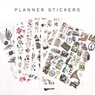[Half Price] Planner Stickers *Slightly Defected* (Uncut)