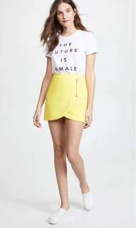 NWT Alice + Olivia Yellow Mini Skirt
