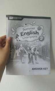 夏日英文Summer English Cham pions 中一升中二答案版
