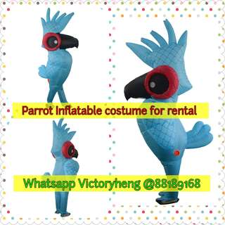 Parrot Inflatable costume for rental