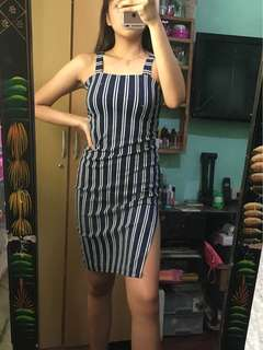 Stripes bodycon dress