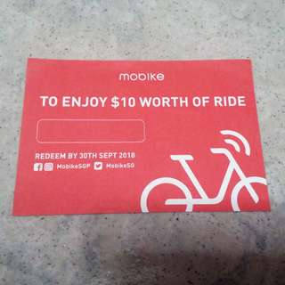 Mobike $10 ride voucher sale ~!!!! #$#Xxgh vcfg