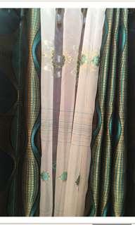 SALE! 3 in 1 brocade curtain.