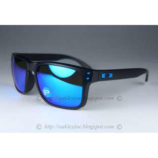 0c6c947ead BNIB Oakley Holbrook Asian Fit matte black + sapphire iridium polarized  oo9244-19 sunglass shades