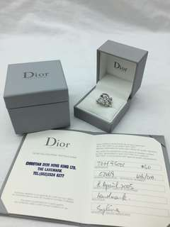 Dior 白金鑽石骷頭介指 連証書 - Dior skull WG Diamond ring with certificate