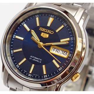 Seiko 5 Men's Automatic Day Date Watch SNKL79K1
