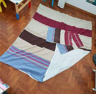 Queen-sized (Aussino) quilt cover + 2 pillowcases