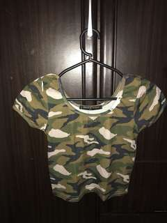 Camouflage Cropped Top