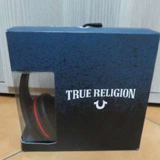 TRUE RELIGION HEADPHONE BLACK 3.5MM BRAND NEW AUTHENTIC