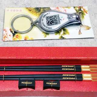 $4 elegant gold plated tip chop stick / chopstick suitable as birthday gift + $2 nail clipper sale ! @#%^