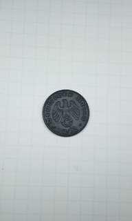1942 Germany Third Reich 5 pfennig coin WWII zinc