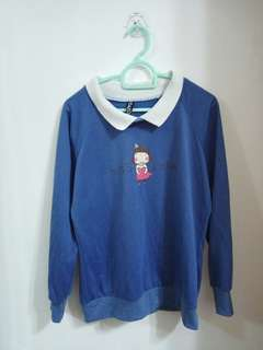 blue pullover