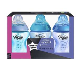 🆕Tommee Tippee close to nature colour feeding bottles 9oz/ 260ml