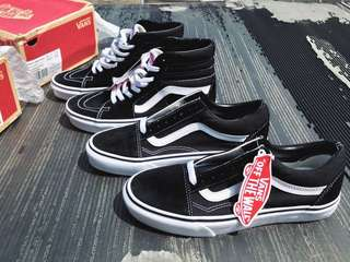 Vans Ori Old Skool & SK8-Hi Classic Core Black White
