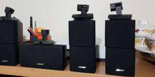 2 x Bose Cube Speakers with wall mount