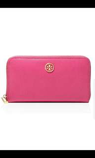 Tory Burch Wallet. AUTHENTIC. Leather. PINK color. Normal size