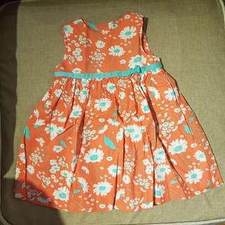 Baju Dress Anak Perempuan Motif Bunga