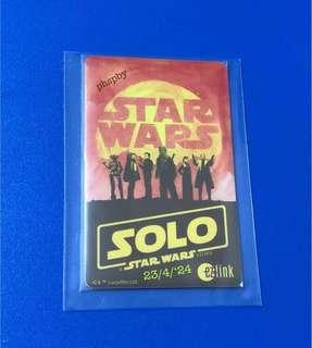 Star Wars Solo Ezlink Card => No value