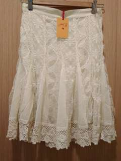 30% OFF! British India Just Be Label Brand New With Original Tag Ivory Lace Skirt